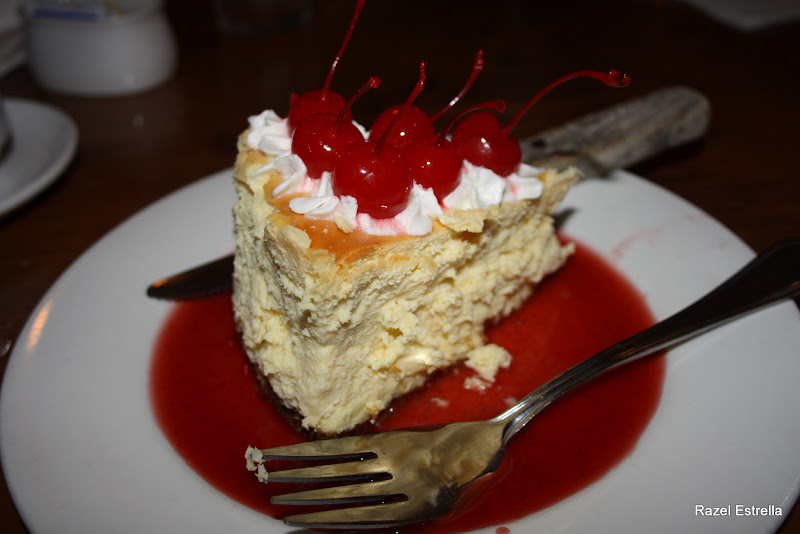 Photo: Cherry cheesecake at Gumbo