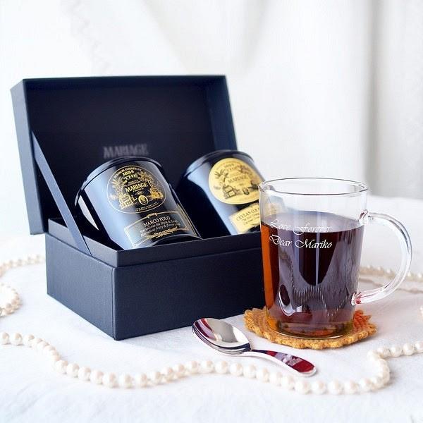 紅茶と名入れマグセット