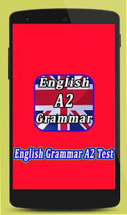 English Grammar Test A2 - náhled