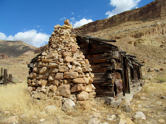 Impressive stone chimney