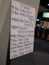 Photo: Ernie Ball signing schedule