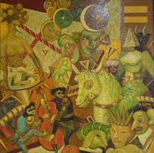 Photo: elżbieta chojak-mysko; myśko; chojak; london exhibition; tomek; rickshaw house; art; cztery pory roku; four seasons of the year; galleria; gallery;