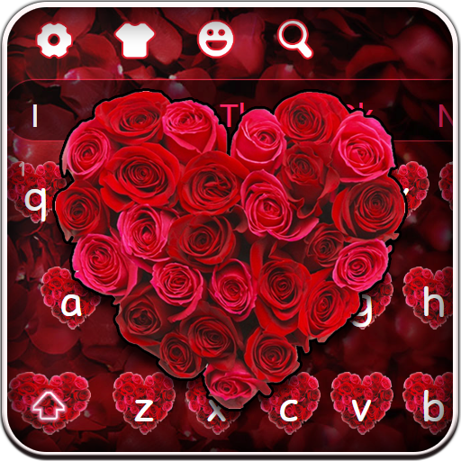 Red Love Rose Keyboard