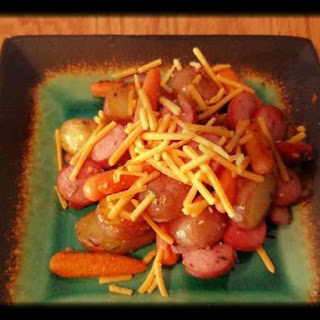 Skillet Potatoes, Carrots and Sausage
