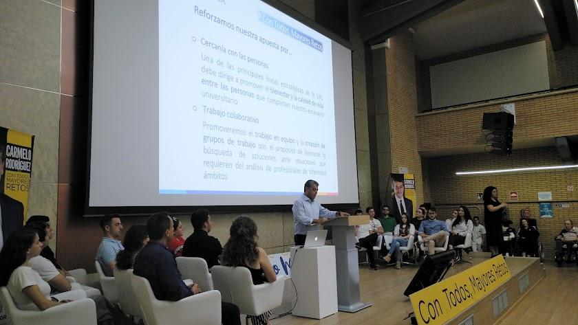 Acto de presentación de la candidatura de Carmelo Rodríguez.