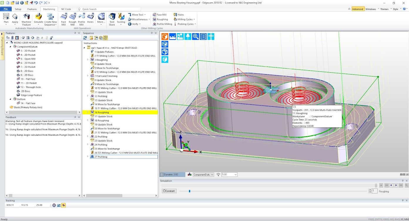 Значимость траекторий EDGECAM Waveform для I&G Engineering