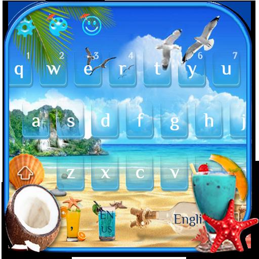 Summer Beach Keyboard Theme