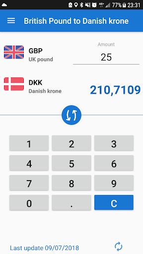 UK Pound To Danish Krone GBP DKK Converter Screenshot 2