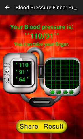 android Blood Pressure Finder Prank Screenshot 4