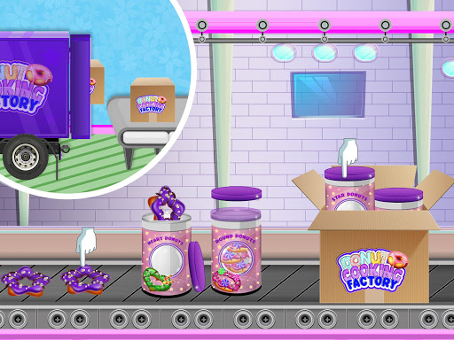 Donuts Cooking Factory: Baking Dessert in Kitchen android2mod screenshots 5