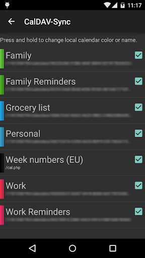 Screenshot for CalDAV-Sync in United States Play Store