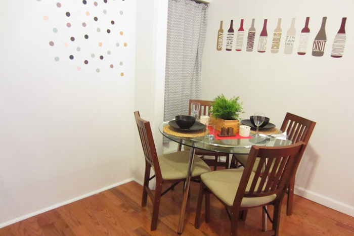 new york rental apartment dining area