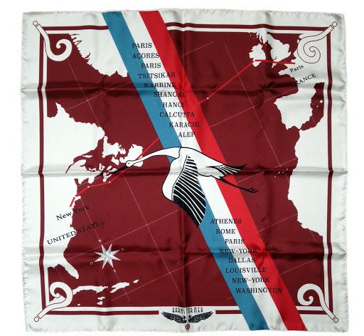foulard 100% soie made in france point d'interrogation