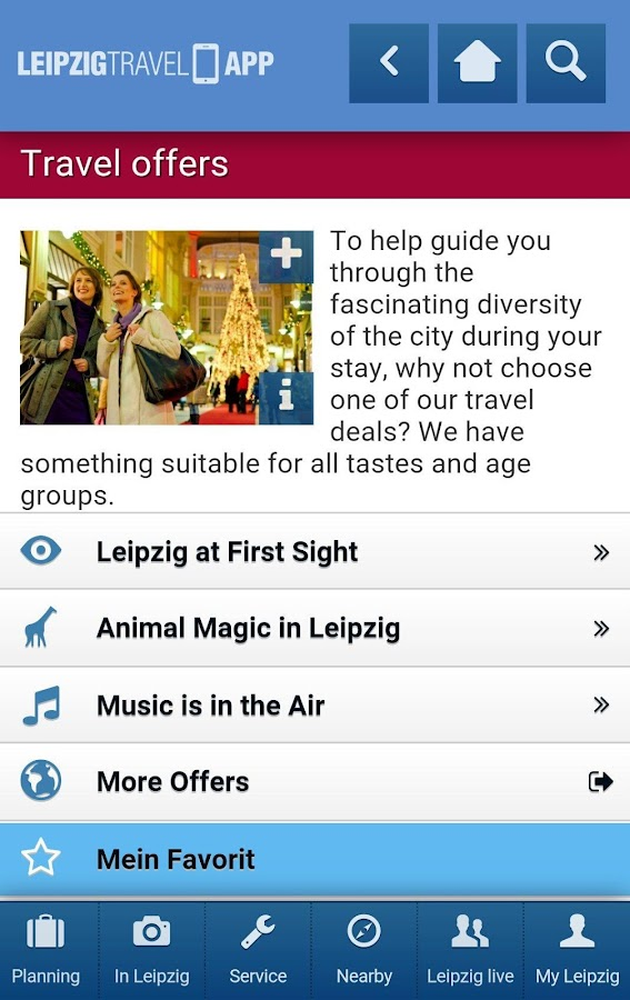 LEIPZIG TRAVEL APP- screenshot