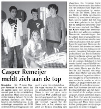 Photo: Casper Remijer meldt zich aan de top 2 januari 2009