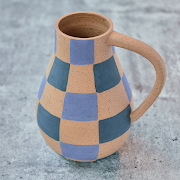 Mima Ceramics Checkered Pitcher