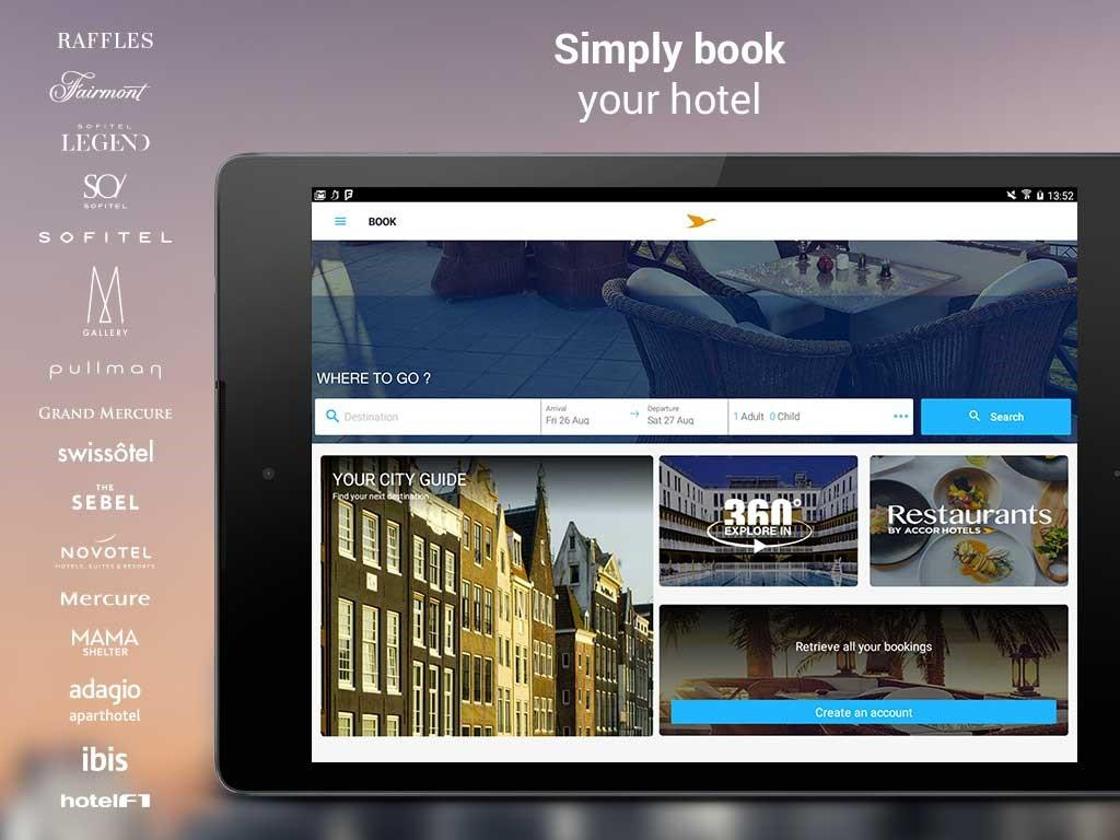 AccorHotels hotel booking- screenshot