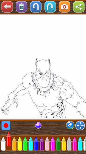 Coloring Avengers Heroes 1.0 screenshots 5
