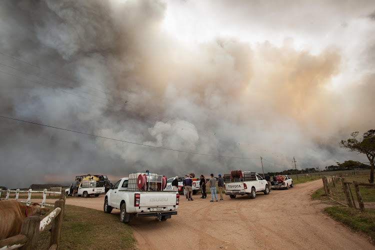 Fires in Kranshoek, Knysna on June 7. Picture: EWALD STANDER