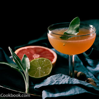 Sage Brown Derby (Whiskey and Grapefruit Cocktail).