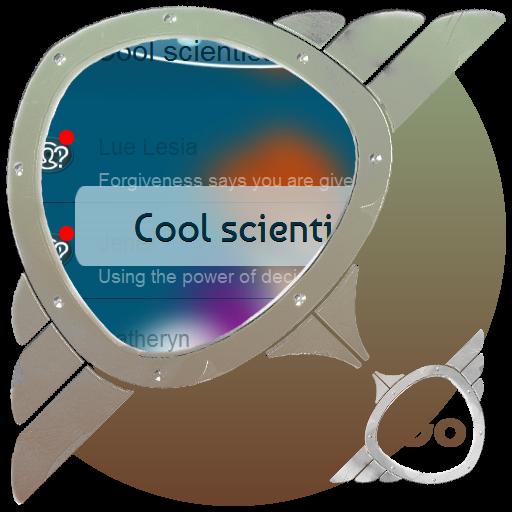 個人化App|クールな科学者 GO SMS LOGO-3C達人阿輝的APP