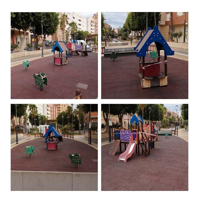 La zona infantil de juegos de la Rambla Amatisteros se ampliará.