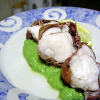 Monkfish with Parma Ham & Pea Purée