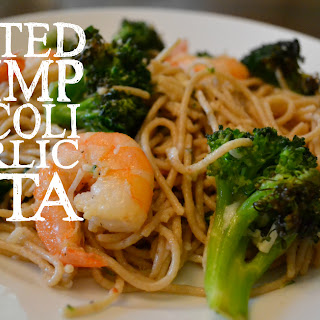 Roasted Shrimp Broccoli & Garlic Pasta.