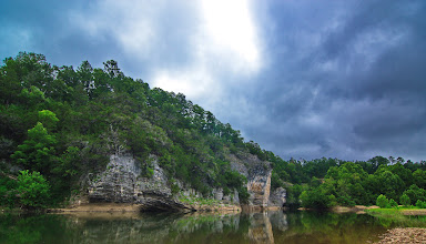 Photo: Skull Bluff on the Buffalo River above Woolum