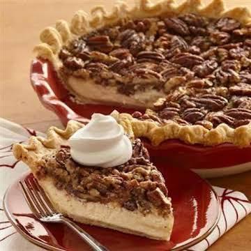 Easy vanilla cheesecake pecan pie
