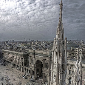 The sky above Milan by Filippo Bianchi - Buildings & Architecture Other Exteriors ( milan, emanuele, galleria, filippo, vittorio, duomo, fil.ippo, milano )