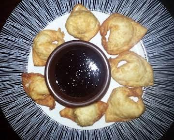 Crab Rangoon with a simple Plum Sauce