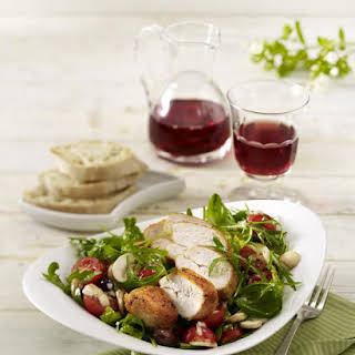 Arugula Salad with Pan Seared Chicken & Balsamic Vinaigrette.