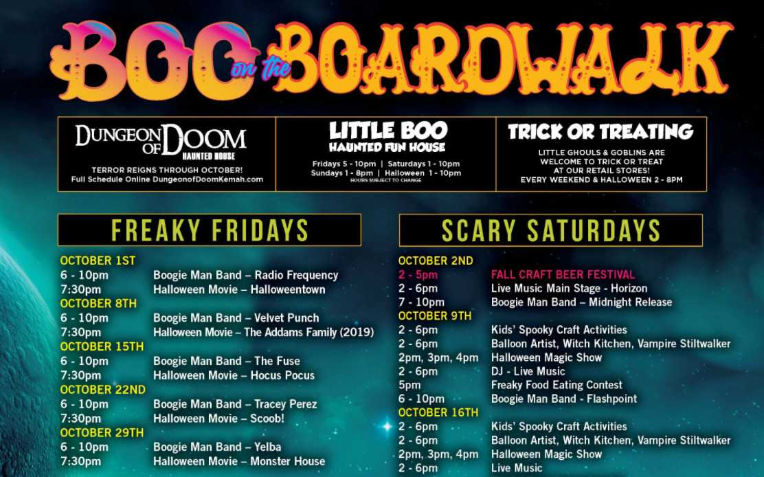 Boo on the BoardWalk; The Best Halloween Events In Texas in 2021