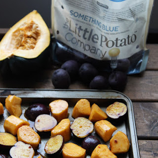 Sweet + Spicy Roasted Potatoes and Squash
