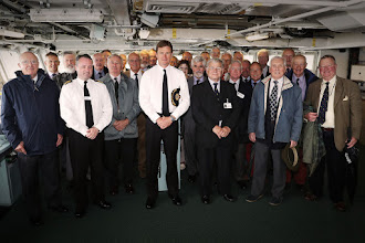 Photo: COMATG and Exeter Flotilla GroupCOMATG A.Burns OBE RN and the Exeter Flotilla Association visited HMS Bulwark on 15th June 2016. Commodore Burns addressed the Exeter Flotilla Association, who consists of retired RN and RM Officers which was first formed in 1936.