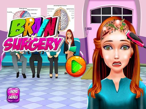 腦外科醫生發手術遊戲的女孩