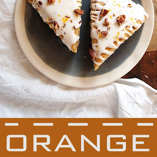 Orange Maple Pecan Scones