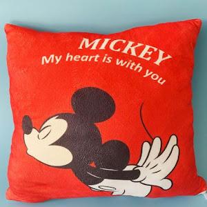 Set 2 pernute Minnie si Mickey Mouse, 40 x 40 cm