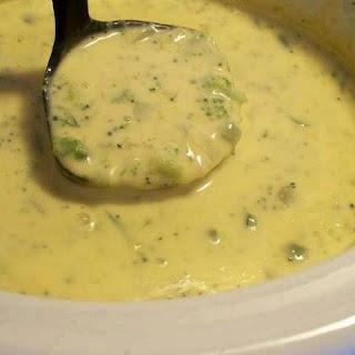 Crockpot Potato Broccoli Cheddar Soup.