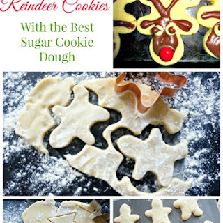 Reindeer Sugar Cookies (and The BEST Cut-Out Cookie Recipe)