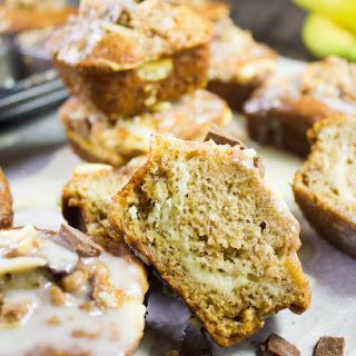 Cream Cheese Banana Bread Muffins.