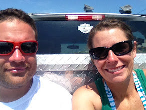 Photo: we are indeed riding in the back of a truck to go get snow cones