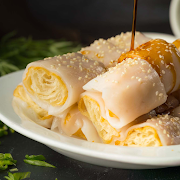 Steamed Rice Roll with Deep Fried Donut