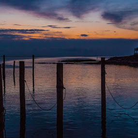 Avon Harbor by Angela Moore - Landscapes Starscapes ( clouds, sky, harbor, color, sunset )