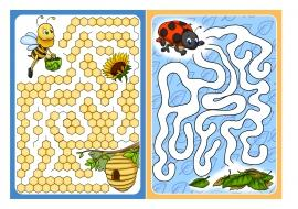 Пчелка и пчелиное гнездо. Лабиринт