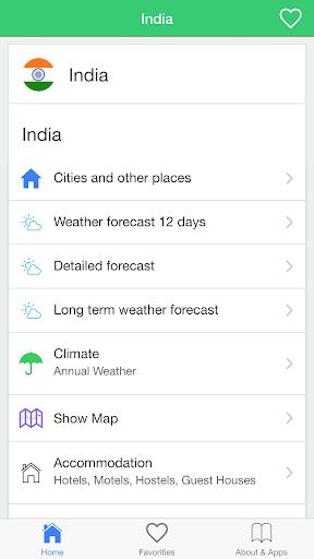 印度气象预报