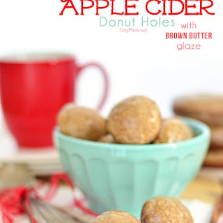 Apple Cider Donut Holes with Brown Butter Glaze