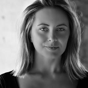 Stare by Cosmin Lita - Black & White Portraits & People ( potrait, monochrome, beautiful, stare, eyes,  )