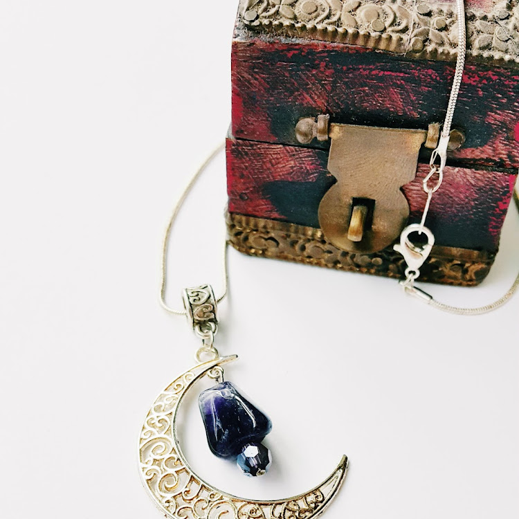 Silver Moon River - Short Necklace